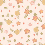 Vintage floral seamless pattern. With abstract hand drawn flowers. Romantic background in  can be used for wallpaper, web page backgrounds, surface textures Royalty Free Stock Photos