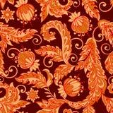 Vintage floral seamless pattern. In batik style Stock Photos