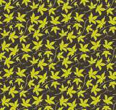 Vintage floral seamless pattern. Classic hand drawn ivy leaves Royalty Free Stock Photography