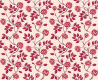Vintage floral seamless pattern with classic hand  Stock Photo