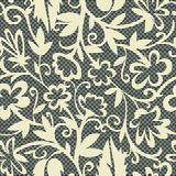 Vintage floral seamless pattern decorative vintage texture swirl background vector illustration Stock Photo