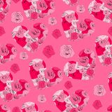 Vintage floral seamless pattern. EPS8 vector. Stock Photography