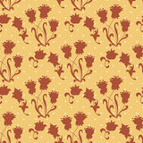 Vintage floral seamless pattern. Royalty Free Stock Photo