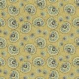 Vintage floral seamless pattern. Vintage golden flowers seamless pattern Royalty Free Stock Image