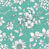 Vintage floral seamless pattern Stock Photography