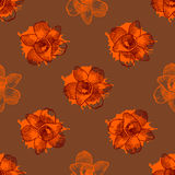 Vintage floral seamless pattern with hand drawn Royalty Free Stock Photo