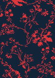 Vintage floral seamless pattern with hand drawn poppies  Stock Photography