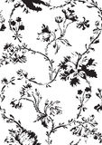 Vintage floral seamless pattern with hand drawn poppies  Royalty Free Stock Photos