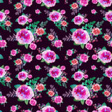 Vintage floral seamless pattern with rose flowers and leaf. Print for textile wallpaper endless. Hand-drawn watercolor. Elements. Beauty bouquets. Pink, red royalty free stock photo