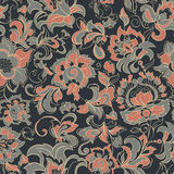 Vintage floral seamless pattern. vector background. Royalty Free Stock Photo