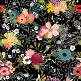 Vintage Floral Seamless Pattern Stock Photo