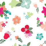 Vintage Floral Seamless Pattern - Vector. Seamless floral pattern  illustration Royalty Free Stock Images