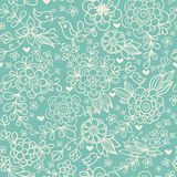 Vintage floral seamless pattern. Vector. Stock Photography