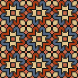 Vintage floral seamless stitching pattern in desaturated colors Stock Photography