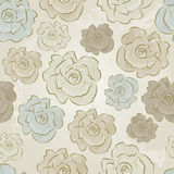 Vintage Floral Seamless vector pattern of Roses Royalty Free Stock Photography