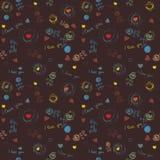 Vintage floral seamless wallpaper, pattern Stock Images