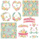 Vintage Floral Set Royalty Free Stock Photos