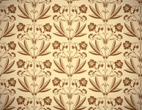 Vintage floral style seamless background. Royalty Free Stock Image