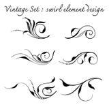 Vintage floral swirl set,vector illustration Stock Photo