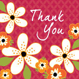 Vintage floral Thank You card template Royalty Free Stock Photos