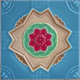 Vintage floral tile Royalty Free Stock Photo