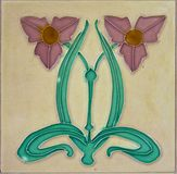 Vintage floral tile Royalty Free Stock Photography