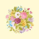 Vintage floral vector bouquet Stock Image