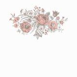 Vintage floral vector card Stock Images