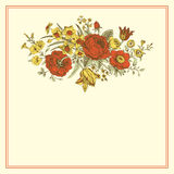 Vintage floral vector card Royalty Free Stock Image