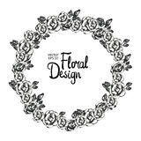 Vintage floral vector wreath Stock Images
