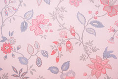 Vintage floral wallpaper. Vintage floral pattern wallpaper background Stock Photo