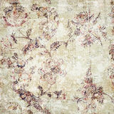 Vintage floral wallpaper. Abstract background of patterned vintage floral wallpaper stock photos