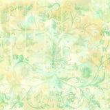 Vintage floral wallpaper. Grungy botanical vintage flowers background or scrapbook paper Royalty Free Stock Photo