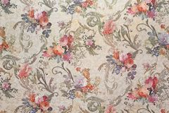 Vintage floral wallpaper. Vintage wallpaper with floral patterns Royalty Free Stock Image