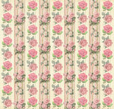 Vintage floral wallpaper. Vintage wallpaper with roses for your next project Stock Image