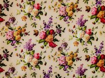 Vintage floral wallpaper. Texture and background stock photography