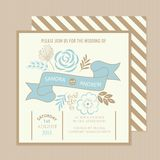 Vintage floral wedding invitation card Stock Photography