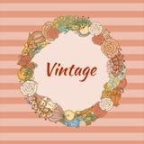 Vintage floral wreath Royalty Free Stock Photos