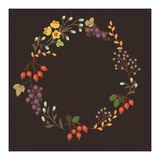 Vintage floral wreath. Eps 10 Stock Photography