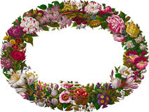 Vintage Floral Wreath Stock Photo