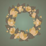 Vintage floral wreath. Vector vintage floral wreath with space for text Royalty Free Stock Photography