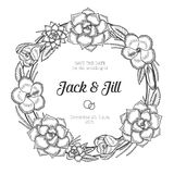 Vintage floral wreath. Wedding invitation Royalty Free Stock Photos