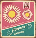 Vintage florist shop sign Royalty Free Stock Photography
