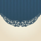 Vintage flourish engraving pattern border frame. Card invitation vector stock illustration