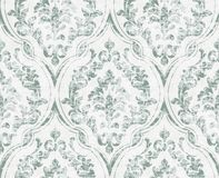 Vintage flourish ornamented pattern Vector. Victorian Royal texture. Flower decorative design. Light green color decors stock illustration