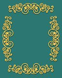 Vintage flourishes ornament frame template vector illustration. Victorian borders for greeting cards, wedding invitations,. Advertising or other design and royalty free illustration
