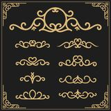 Vintage flourishes vine frame and luxurious calligraphy. Vintage flourishes vine frame and luxurious calligraphy decorative frame element design for label Stock Photos