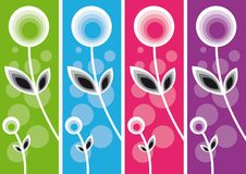 Vintage Flower Background. Vector illustration Royalty Free Stock Images