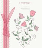 Vintage flower on background vector Stock Photography