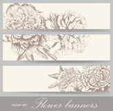 Vintage flower banners Royalty Free Stock Photos